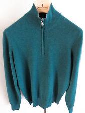 $1415 NWT BRUNELLO CUCINELLI 1/2 Zip Sweater 100% Cashmere 46 EU 36 US Small XS