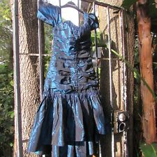 Vintage 80s French Can Can Girl prom party cocktail dress holiday XS Xsmall