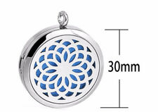 Flower of Life, Diffuser Necklace Locket Stainless Still 10ml Oil 11 pads, Gift+