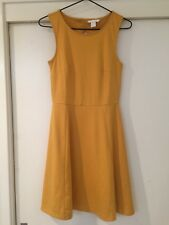 H&M Ladies Mustard Dress Size S Good Condition