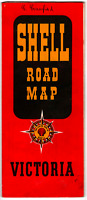 USED SHELL MAP VICTORIA Petrol Advertising Road Map Collectable Vintage Fuel