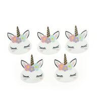 5pcs/lot planar resin cute unicorn head kawaii resin cabochons accessories KQ