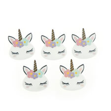 5pcs/lot planar resin cute unicorn head kawaii resin cabochons accessoriesLD