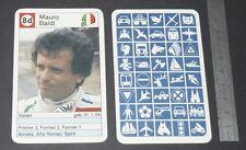 CARTE COUREUR AUTOMOBILE 1984 FORMULE 1 GRAND PRIX F1 MAURO BALDI SPIRIT