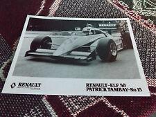 8 x 6 F1 PRESS PHOTO - RENAULT RE50 - 1984 - PATRICK TAMBAY