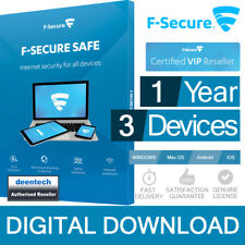 F-Secure SAFE 2018 (3PCs/1Year) Antivirus & Internet Security Genuine License