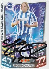 Craig Mackail Smith Match Attax mano firmado Brighton 12/13 Tarjeta de 2012/2013.