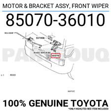 8507036010 Genuine Toyota MOTOR & BRACKET ASSY, FRONT WIPER 85070-36010