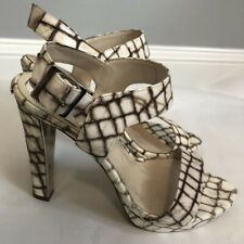 High Heeled open toed leather  Sandals by Christian Dior sz 37.5 US 7.5