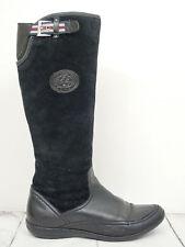 TOMMY HILFIGER ❤ Stiefel Gr. 37 Damen Schwarz Boots Scarpe Schuhe