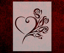 "Tribal Heart Rose 8.5"" x 11"" Stencil FAST FREE SHIPPING (600)"