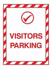1x VISITORS PARKING Warning Sticker