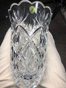 "Large heavy Waterford 10"" Vase"