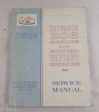 1969 Cessna Skywagon 206 Series & Super Skylane Service Manual Catalog