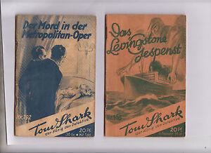 Original Tom Shark Serie ab 1929 Nummer 165 + 192 Verlagshaus Freya