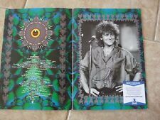 Robert Plant Led Zeppelin Signed Autograph Tour Program Photo Beckett Certified