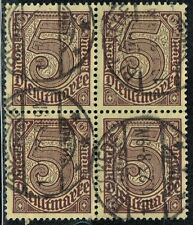 GERMANY 1920 OFFICIAL STAMP DIENST Mi. # 33 INFLATION USED BLOCK OF FOUR
