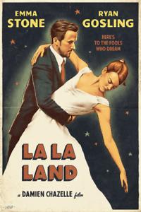 La La Land Movie Poster Print b (CHOOSE SIZE - A5/A4/A3/A2/A1) Frame Option