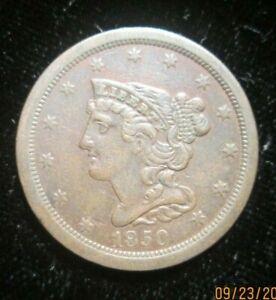 1850 Braided Hair Half Cent