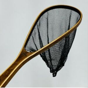 Handcrafted Wood Fishing Net - 22 Inch