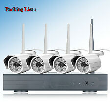 4CH NVR 1080P HD Outdoor Wireless 48 IR Night Vision Home Security Camera System
