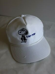 VINTAGE SNOOPY PEANUTS TOP POP BASEBALL CAP ADJUSTABLE PIONEER INDUSTRIES c1958