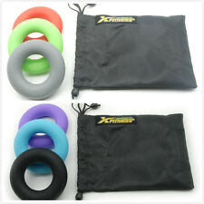 Set of (6) xFitness Silicone Ring Hand Grippers From 30 to 80 Lbs with Carry Bag