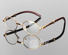 c5d8e761cc5e Womens Men Retro Vintage Clear Lens Yellow Gold Wood Frame Fashion Eye  Glasses