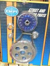 EMPI VW BUG Buggy Sandrail Aluminum Crankshaft Pulley 6 piece Kit, BLUE , 8651