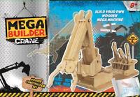 Mega Builder Crane Wooden Construction Kit