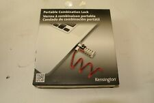Kensington Portable COmbo Cable Lock for Laptops & Other Devices, Red K64671AM