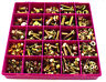410 PIECE M6 M8 M10 M12 FLANGED HEX HEAD BOLTS & SERRATED NUTS YELLOW ZINC KIT