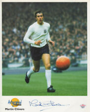 MARTIN CHIVERS SPURS & ENGLAND LEGEND SIGNED OFFICIAL PHOTO CARD PAAS