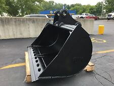 "New 60"" Komatsu Pc138 Ditch Cleaning Bucket w/ Coupler Pins"