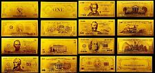FULL SET USD DOLLAR 1-1000 REPLICA GOLD 24K
