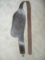 1-WESTERN SADDLE REPLACEMENT HORSE SADDLE FENDER RIGHT SIDE DARK OIL TOOLED