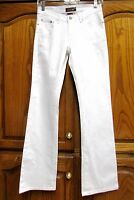 NEW D JEANS WHITE EMBELLISHED/FLORAL EMBROIDERED STRETCH BOOT-CUT JEAN SZ 5 X 31