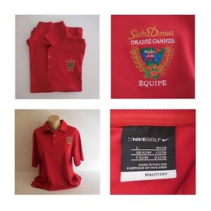 Polo rouge Saint Donat Grasse Cannes Equipe  sport collection Nike golf N4178