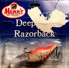 Vintage Mann's Bone Brown Stripes Deep Pig Razorback Fishing Lure