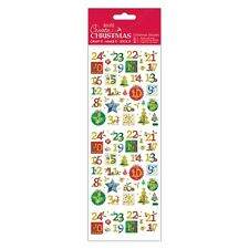 Docraft Papermania Create Christmas Stickers Holly Advent Numbers for crafts
