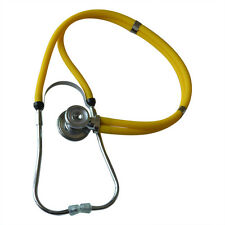 Medical Dual-Head Dual-barreled Stethoscope Superior Acoustic Yellow