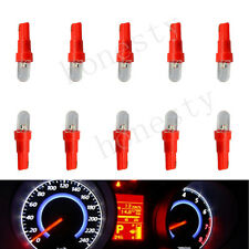 10X T5 Red Car LED Bulb Dashboard Indicator Side Light Lamp Bulb DC 12V Raised