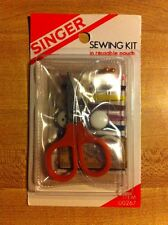 NEW Singer Travel scissors 25-piece Sewing Kit thread button tape Reusable Pouch