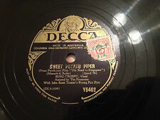 "BING CROSBY ""Sweet Potato Piper""/""Between 18th & 19th On Chestnut Street"" 78 G+"