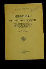 Storia locale San Giovanni in Persiceto Giovanni Forni 1927 Cappelli