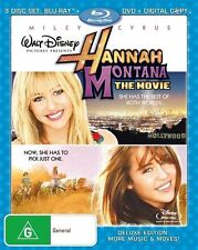Hannah Montana - The Movie (Blu-ray, 2009, 3-Disc Set) *New & Sealed* Region B