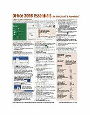 Microsoft Office 2016 Essentials Quick Reference Guide - Window... Free Shipping