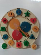 Roll-D-Gear Puzzle Clock Educational Toy 1982 Learning Time