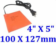 """4"""" X 5"""" 100 X 127mm 120V 100W Diesel Fuel Tank CE / UL  Silicone Heat Pad w Plug"""