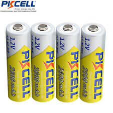 4 x PKCELL NI-MH 2600Mah 1.2V AA Rechargeable Battery 2A Bateria Baterias